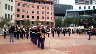 US Marine Corps Pacific Band playing in Wellington, NZ