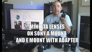 Minolta Lenses on Sony A and E Mount (with LA-EA4 adapter) Sample Images