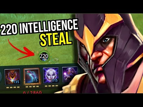 WORLD RECORD - 220 Intelligence Steal Silencer By S1metris 7.09 | Dota 2