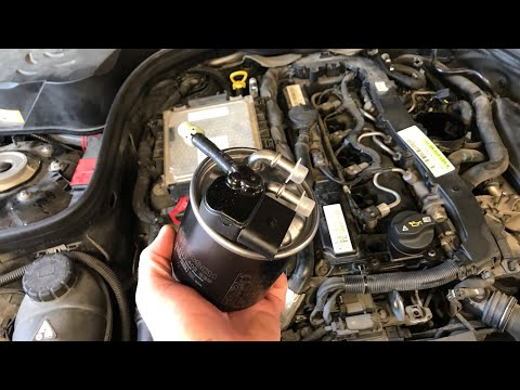 Mercedes W212 | How To Replace Engine Fuel Filter