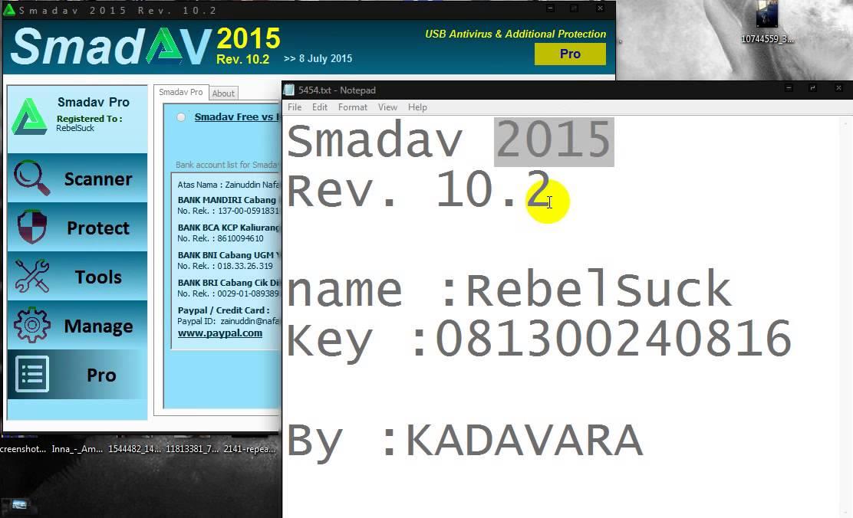 Smadav Pro 2015 Rev 10.2 key - YouTube
