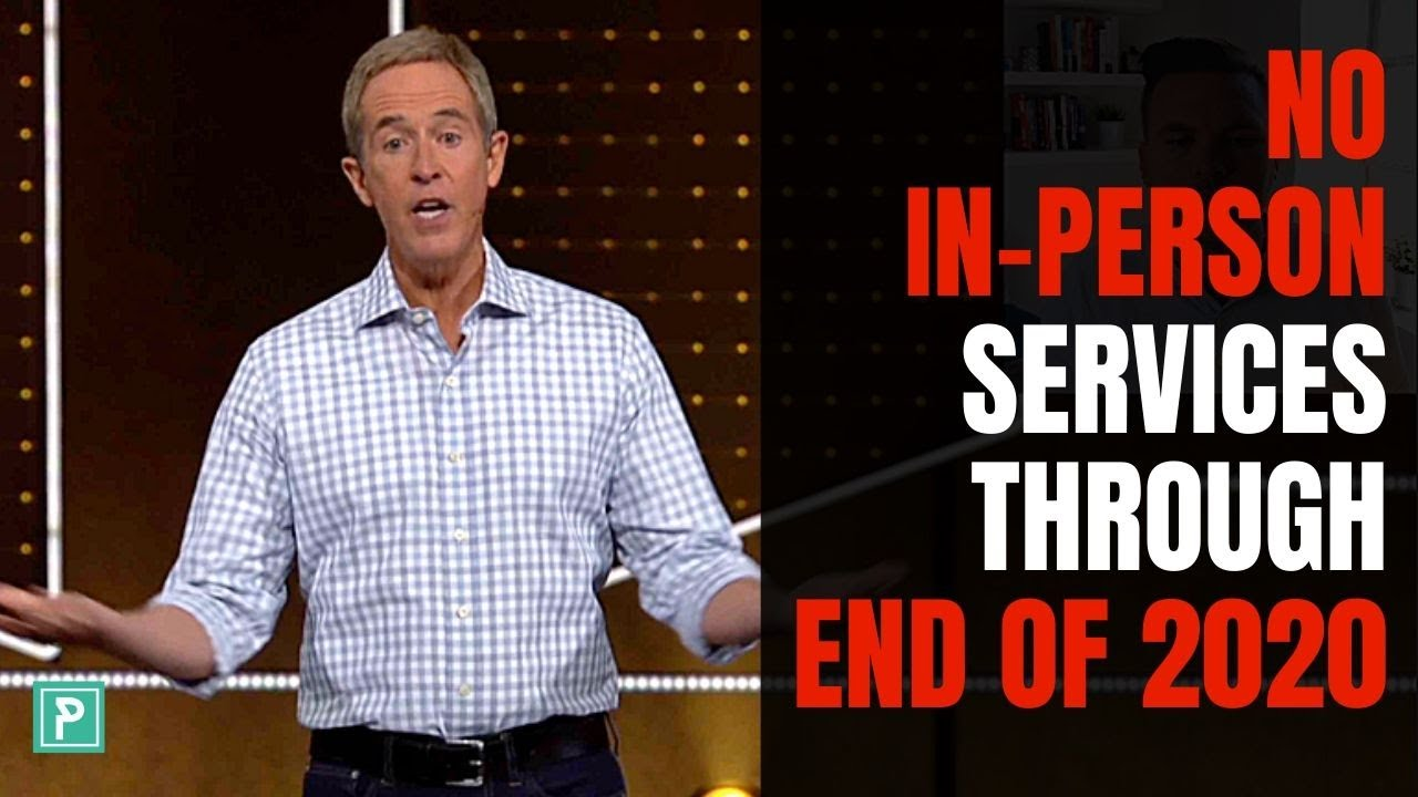 Andy Stanley Announced NO In-Person Services Thru End of the Year!! Lessons for Pastors
