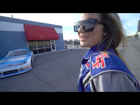 Tricked my Girlfriend into driving a NASCAR!!