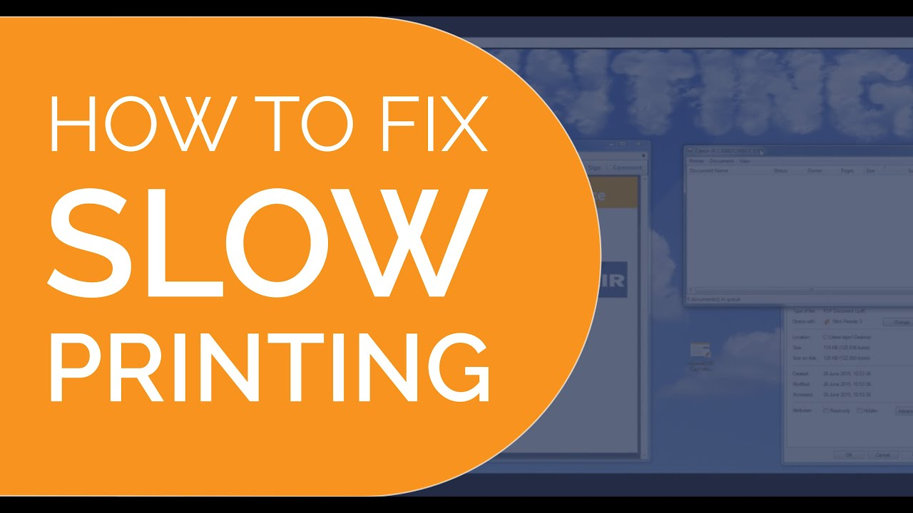 How to fix slow printing