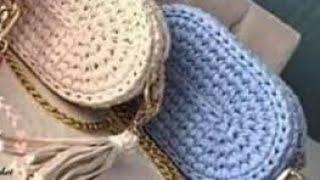 طريقه عمل شنطه وسط (crochet (part 1