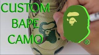custom bape camo nike air max