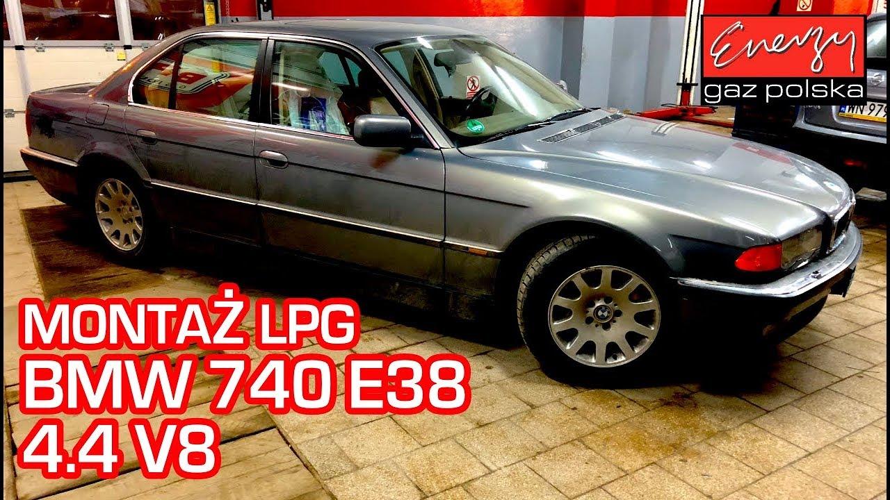 Montaż LPG BMW 740i z V8 286KM w Energy Gaz Polska na gaz BRC SQ P&D