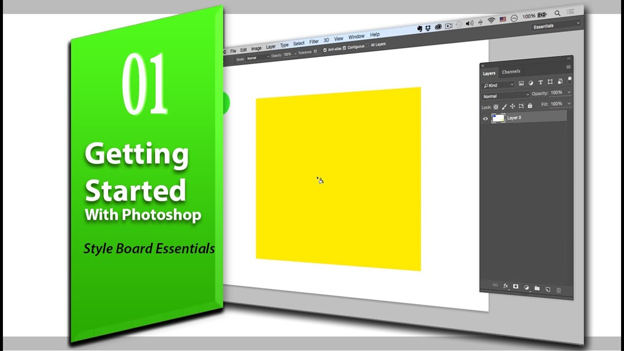 Lesson 1 Getting Started With Photoshop Style board Essentials for