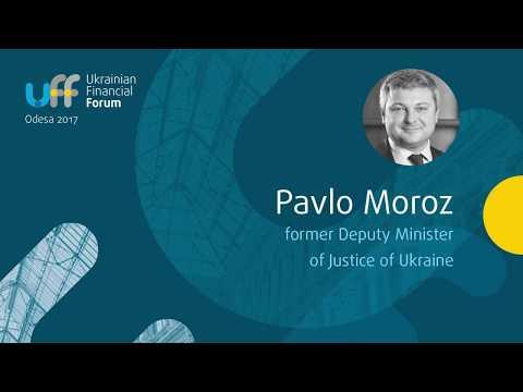 Pavlo Moroz, former Deputy Minister of Justice of Ukraine