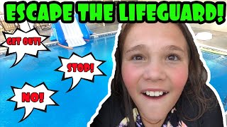 Escape The Mean Lifeguard! Worst Lifeguard Ever!