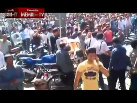 Footage of Demonstrations Held in Tehran over the Economy.