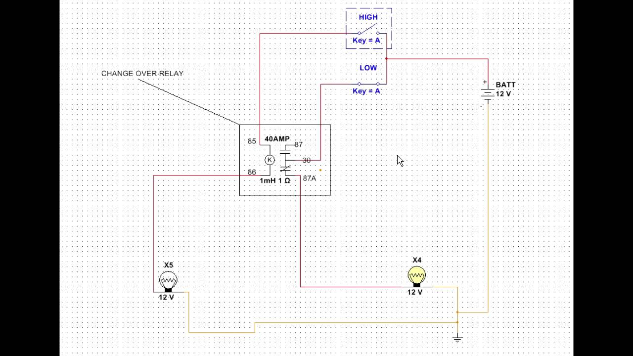 small resolution of change over relay driving head light solution