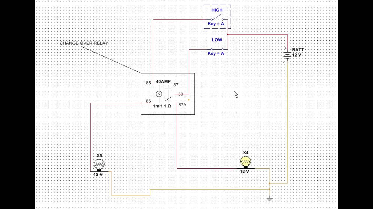 medium resolution of change over relay driving head light solution