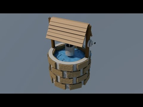 Low Poly Well:: Cinema 4D SpeedArt
