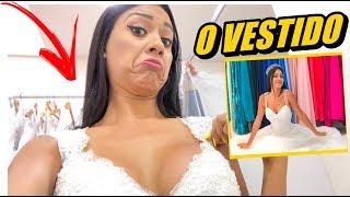 PROVANDO VESTIDOS DE NOIVA !!!!