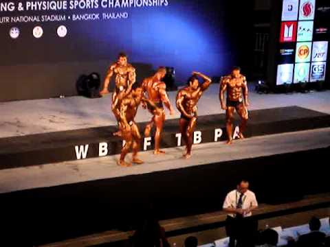 4th WBPF World Championships - Men Athletic Physique 180cm+ - Posedown