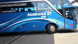 Suara Rem Angin Bus Mercedes Benz OH 1626 || Pandawa 87