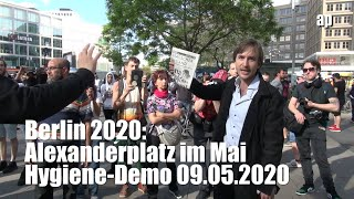 Berlin 2020: Alexanderplatz im Mai - Hygiene-Demo 09.05.2020