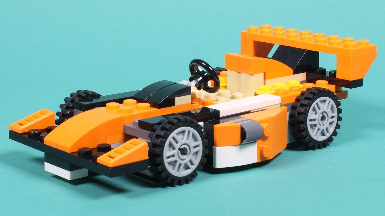 lego racing car assembly animation lego creator 31017. Black Bedroom Furniture Sets. Home Design Ideas