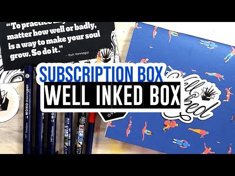 Well Inked Box subscription box - First box of 2018!! 🇨🇦 📦