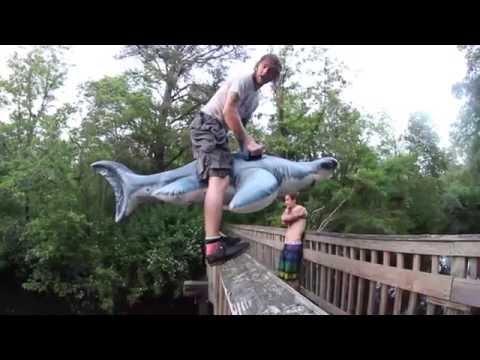 SHARK-FLIP OFF BRIDGE!