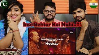 Indian Reaction On Coke Studio Season 12  Heeray  Rahat Fateh Ali Khan & Aima Baig