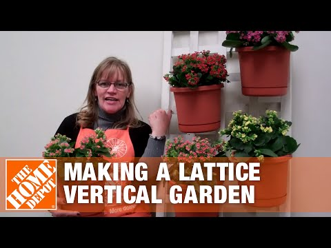How to Make a Lattice Vertical Garden - The Home Depot