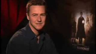 "Edward Norton ""The Illusionist"" interview Movie Junket"