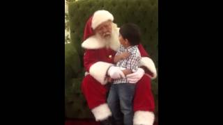 Santa gives Jacob advice on potty training