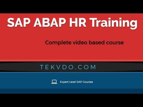 SAP ABAP HR Training - Complete video based course - HR ABAP