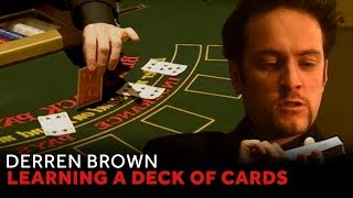 Derren Brown Shows His Trick For Remembering Cards
