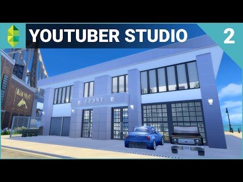 The Sims 4 Building - YouTuber & Streamer Studio (Part 2)