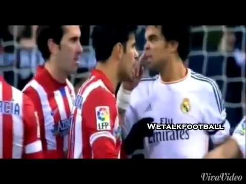 Diego Costa vs Pepe and Ramos ( 2014 Atletico Madrid - Real Madrid ) .
