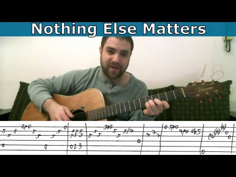 Nothing else matters classical guitar version