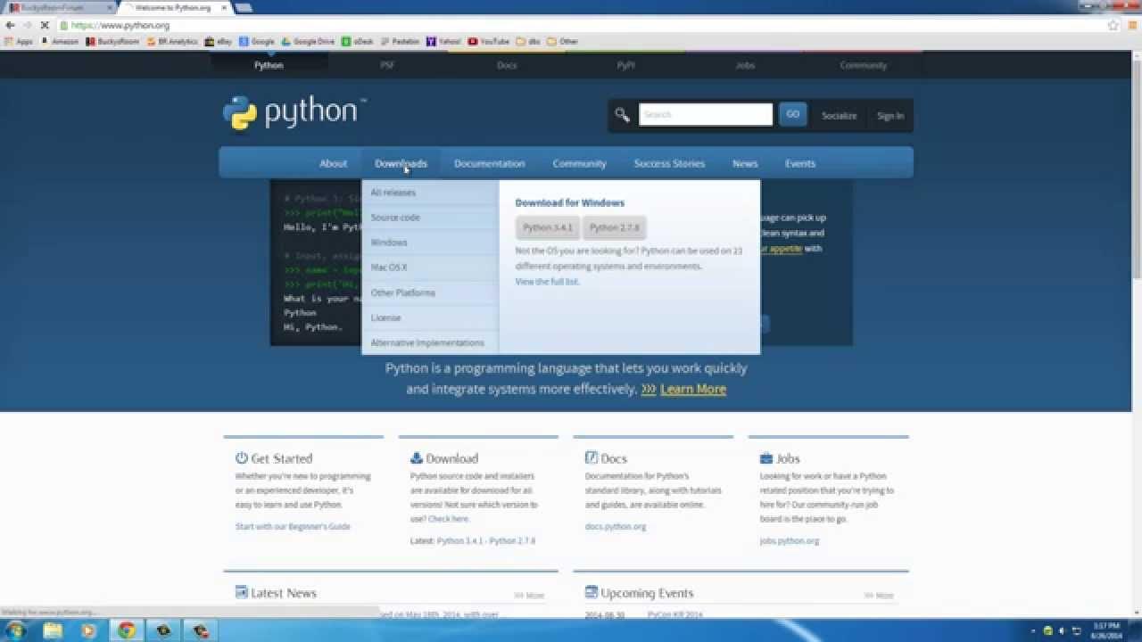 Python 3.4 Programming Tutorials 1 3