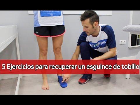 5 ejercicios de recuperación de un esguince tobillo