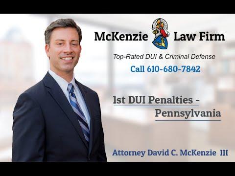 1st DUI Penalties - Pennsylvania