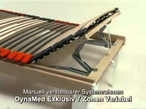lattenrost dynamed exklusiv 7 zonen variabel youtube. Black Bedroom Furniture Sets. Home Design Ideas