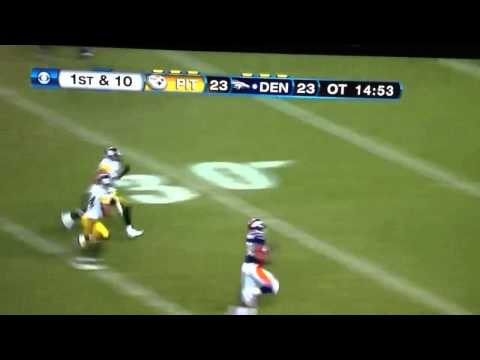 Denver Broncos Beat Steelers on a Tebow to Thomas 80 yard TD