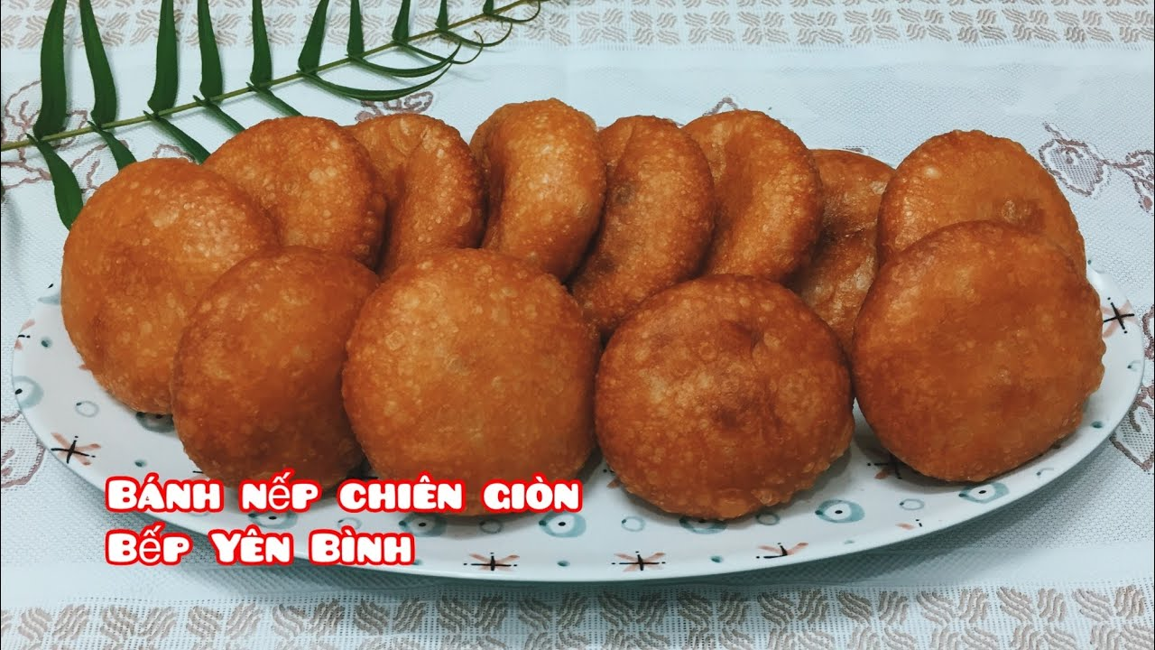 Bánh nếp chiên giòn ngon mê ly, cách làm siêu dễ / bánh nếp rán / Bếp Yên Bình