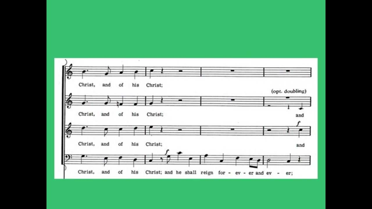 Hallelujah chorus in c major orchestra accompaniment