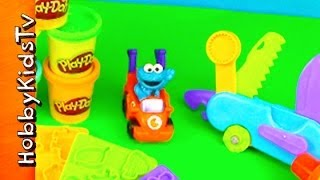 Play-doh Toolset -cookie Monster Car- Toy Review And Playset- Swiss Army Knife