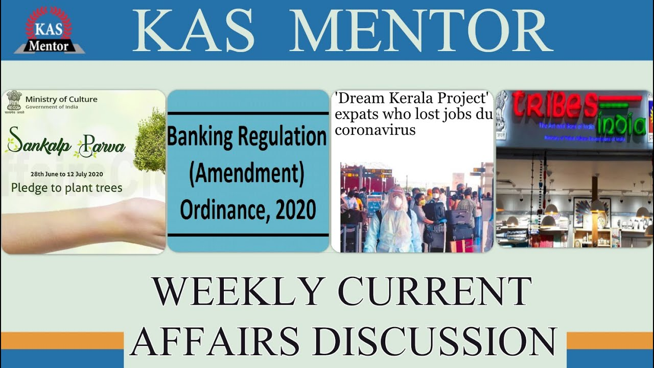Weekly Current Affairs | Dream Kerala Project | Sankalp Parva | Tribes India Store | KAS MENTOR