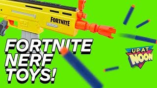 Let's Shoot Ourselves With Fortnite NERF Toys - Up at Noon