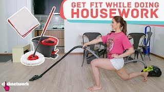 Get Fit While Doing Housework (Simple Workout Routines!) - No Sweat: EP3