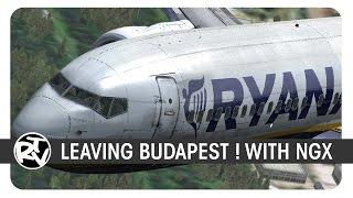 [FSX] | PMDG B737NGX | RyanAir | RYR2758 | Budapest Departure