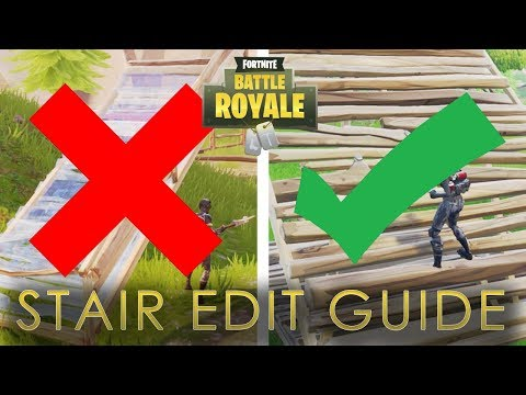 How to Rotate Stairs in Fortnite Battle Royale (How to Edit Stairs in Fortnite)