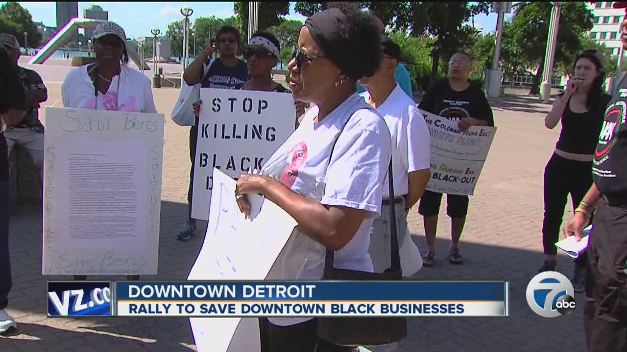 Rally to save black businesses in Detroit