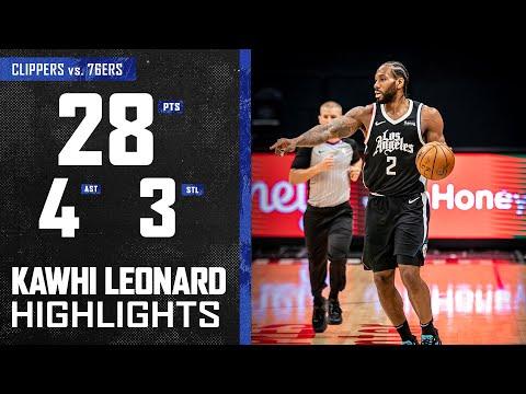 Kawhi Leonard Leads Offense and Scores 28 Points vs. Philadelphia 76ers   LA Clippers