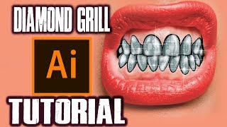 How To Make Diamond Grill ! - Step By Step Tutorial ( ADOBE ILLUSTRATOR )